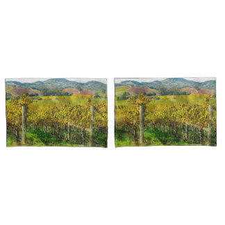 Napa Valley California Vineyard in the Fall Pillowcase