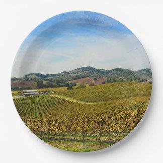Napa Valley California Vineyard Paper Plate