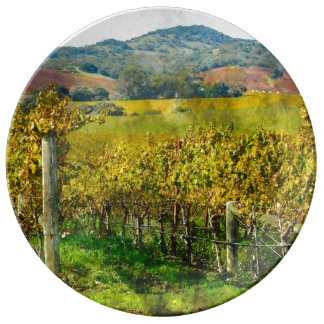 Napa Valley California Vineyard Plate