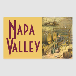 Napa Valley Travel Wine Country Luggage Sticker