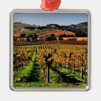 Napa Valley Vineyard Metal Ornament