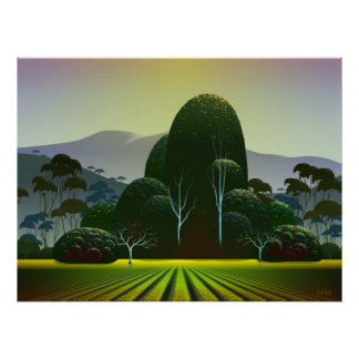 Napa Vineyard Poster