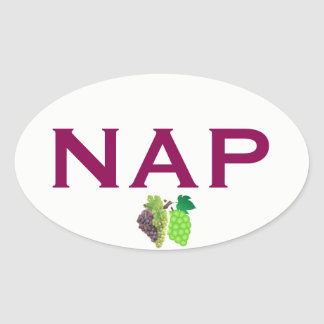 Napa Wine Country Euro-style Oval Sticker