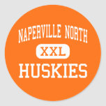 Naperville North - Huskies - High - Naperville Round Sticker