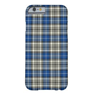 Napier Clan Blue, Black and White Tartan Barely There iPhone 6 Case