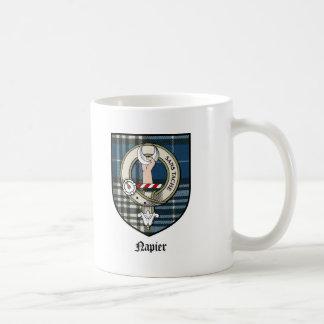Napier Clan Crest Badge Tartan Coffee Mug