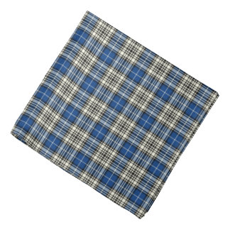 Napier Clan Tartan Blue, Black and White Plaid Bandana