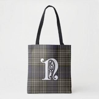 Napier Clan Tartan Monogram Tote Bag