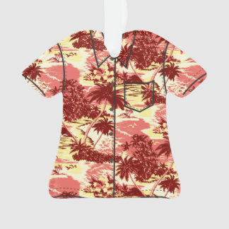 Napili Bay Hawaiian Island Scenic Aloha Shirt Ornament
