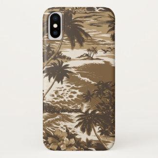 Napili Bay Hawaiian Island Scenic Brown iPhone X Case