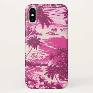 Napili Bay Hawaiian Island Scenic Pink iPhone X Case