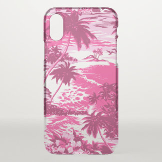 Napili Bay Hawaiian Island Scenic Pink iPhone X Case