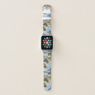 Napili Bay Hawaiian Island Scenic Sky Blue Apple Watch Band