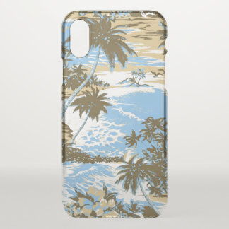 Napili Bay Hawaiian Island Scenic Sky Blue iPhone X Case