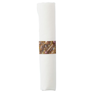 Napkin Bands- Earth Tones Bead Print Napkin Band