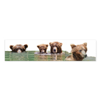 Napkin Bands w/ grizzly bears