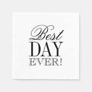 Napkin - Best Day Ever Disposable Serviette