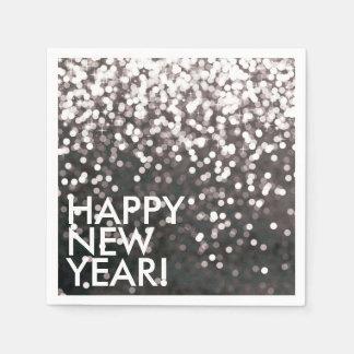 Napkin - Sparkling Happy New Year Black Disposable Serviette