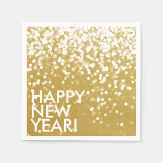 Napkin - Sparkling Happy New Year Gold Disposable Napkins