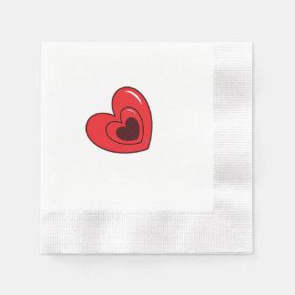 Napkins - Hearts Paper Serviettes