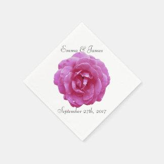 Napkins - Paper - Dark Pink Rose Disposable Napkin