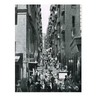 Naples, 1908, Gradoni di Chiala Postcard