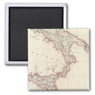 Naples and Sicily 26 Square Magnet