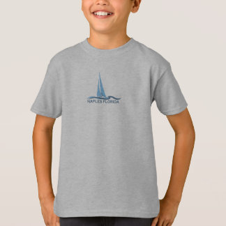 Naples Beach - Sailing Design. T-Shirt