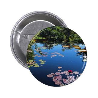 Naples Botanical Garden Water Lilies 6 Cm Round Badge