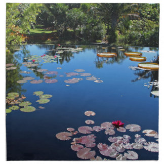 Naples Botanical Garden Water Lilies Napkin