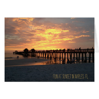 naples fl photograph sunset card