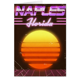 Naples Florida 1980s travel poster Card