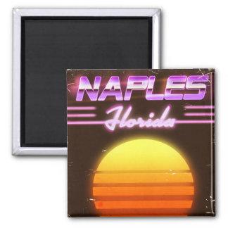 Naples Florida 1980s travel poster Magnet