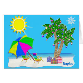Naples Florida Christmas Cards.  Personalize it. Card