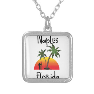 Naples Florida Silver Plated Necklace