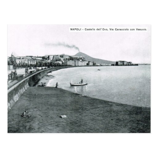 Naples, harbour and waterfront 1908 postcards