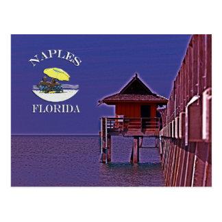 Naples Pier In Blues Postcard
