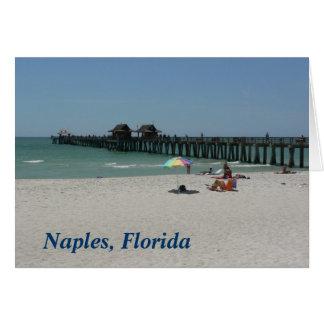 Naples Pier, Naples Florida Card