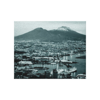 Naples-Vesuvius Canvas Print