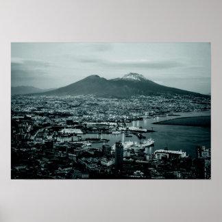 Naples-Vesuvius Poster