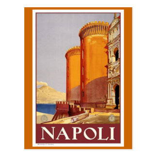 """Naples"" Vintage Travel Poster Postcard"