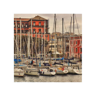Naples Wooden Art Block Wood Prints