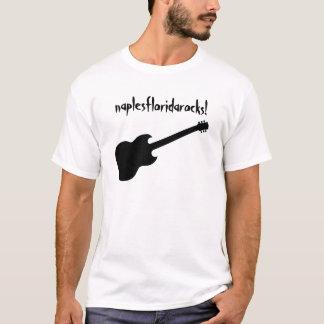 naplesfloridarocks! black guitar T-Shirt