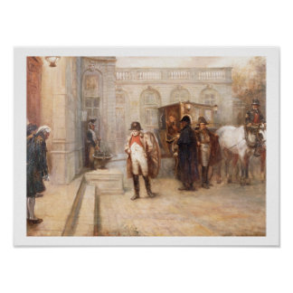 Napoleon after Waterloo (oil on canvas) Poster