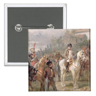 Napoleon and his Troops (oil on panel) (pair of 12 Pin