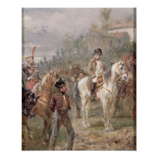 Napoleon and his Troops (oil on panel) (pair of 12 Poster