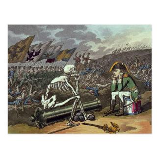 Napoleon and skeleton, 18th postcard
