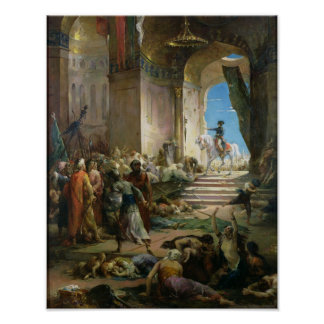 Napoleon Bonaparte  in the Grand Mosque at Cairo Poster