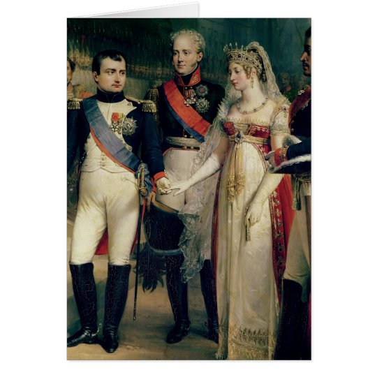 Napoleon Bonaparte  Receiving Queen Louisa Card
