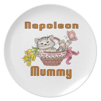 Napoleon Cat Mom Plate